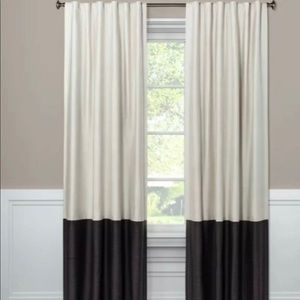 Two New Blackout Color Block Curtain Panels